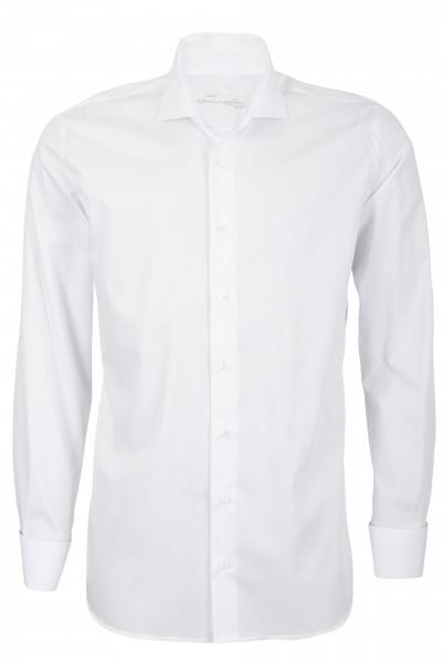 Weißes Modern Cut Schaeffer Hemd mit Hai Kragen