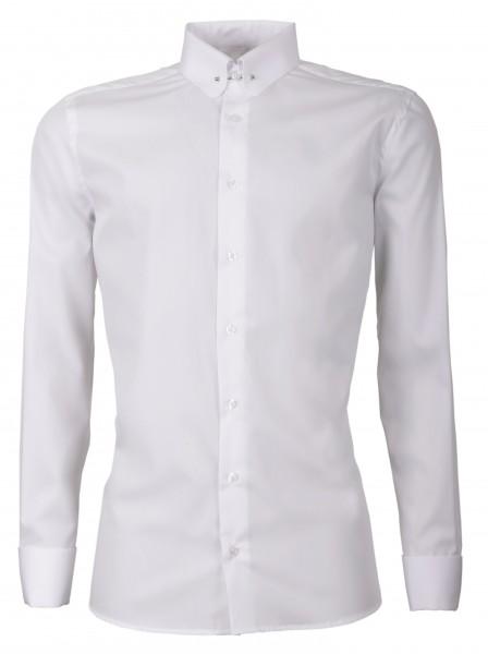 Weißes Slim Fit Schaeffer Hemd mit Piccadilly Kragen