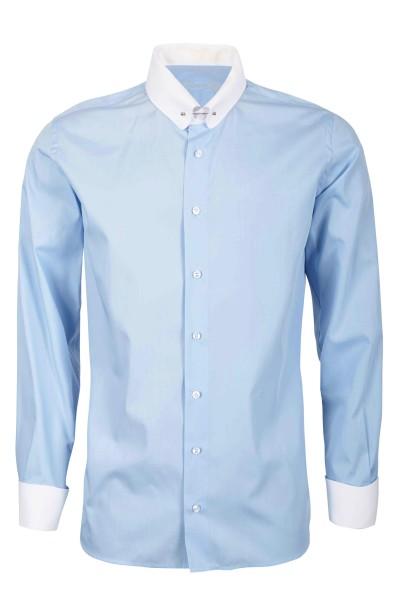Hellblaues Modern Cut Schaeffer Hemd mit Piccadilly Kragen