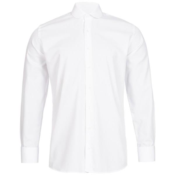 Weißes Modern Cut Schaeffer Hemd mit Club Kragen