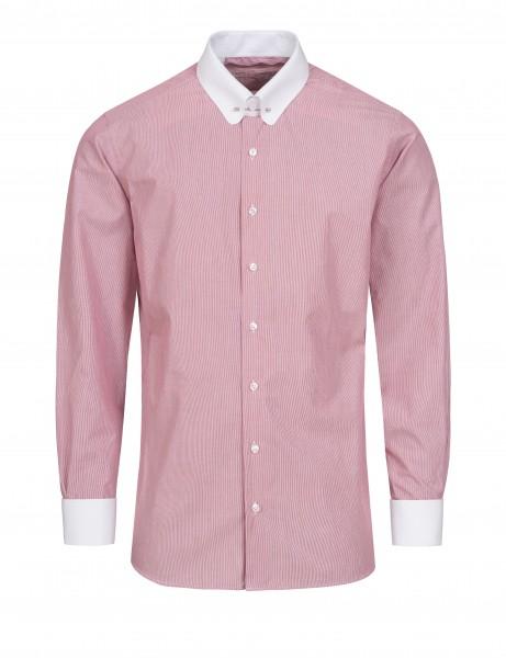 Rot gestreiftes Modern Cut Schaeffer Hemd mit Piccadilly Kragen