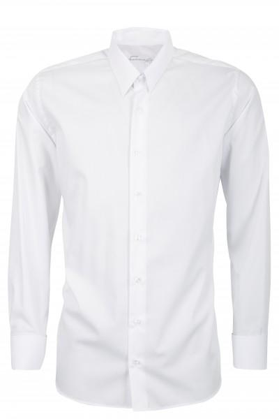 Weißes Regular Cut Schaeffer Hemd mit Tab Kragen