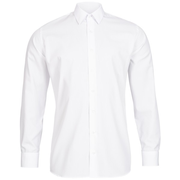 Weißes Slim Fit Schaeffer Hemd mit Hidden Button Down Kragen