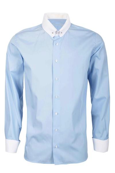 Hellblaues Slim Fit Schaeffer Hemd mit Piccadilly Kragen