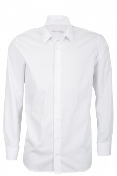 Weißes Modern Cut Schaeffer Hemd mit Eton Kragen
