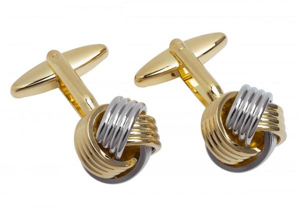 Schaeffer Manschettenknöpfe gold- und silberfarben