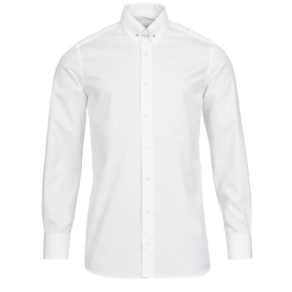 Weißes Modern Cut Premium Schaeffer Hemd mit Piccadilly Kragen