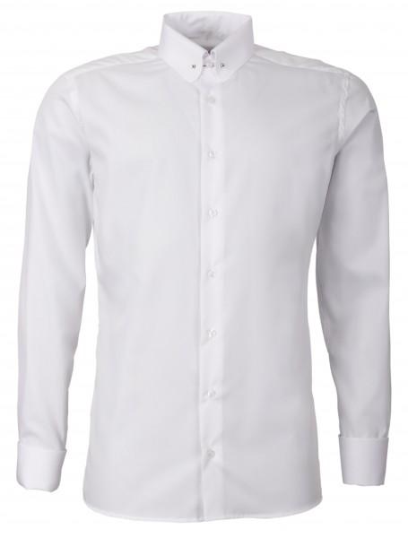Weißes Regular Cut Schaeffer Hemd mit Piccadilly Kragen