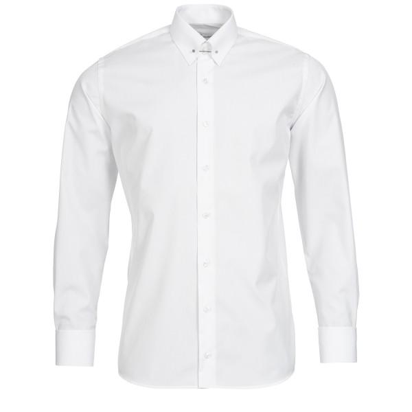 Weißes Slim Fit Premium Schaeffer Hemd mit Piccadilly Kragen